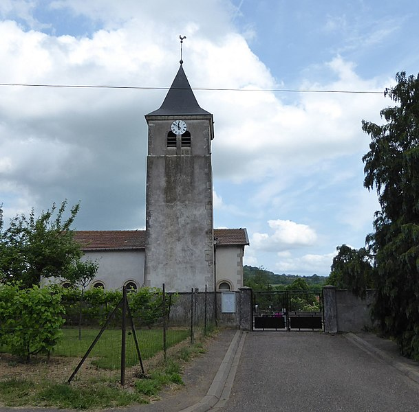 Église de Sivry  en Meurthe-et-Moselle (France).