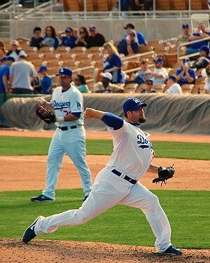 Éric Gagné - Gagné with the Los Angeles Dodgers
