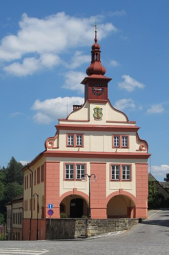 Úpice - Old Town Hall, nowadays municipal museum and art gallery