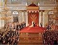 Поляков - Тронная речь Николая II во время открытия I государственной думы в Зимнем дворце.jpg