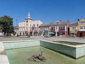 Pidhaitsi - Main square of Pidhaitsi