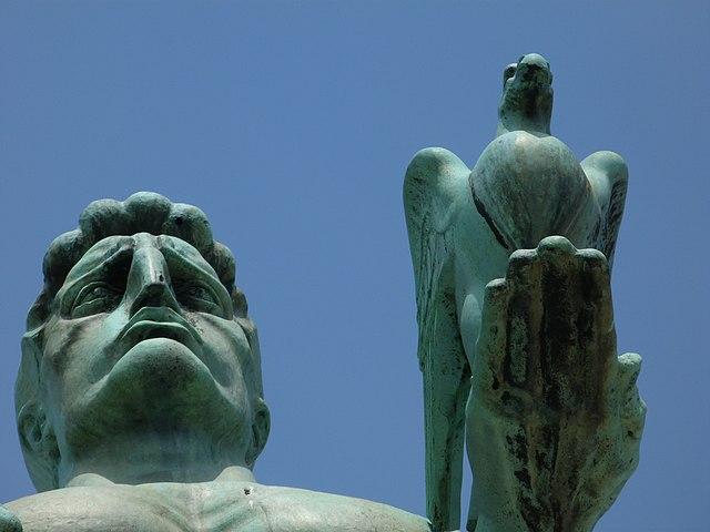 Statue of the Victor in Kalemegdan, Belgrade, by Неда Ковачевић