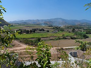 Nong Prue District - Image: ภูมิประเทศอำเภอหนองป รือ, Jan 2013