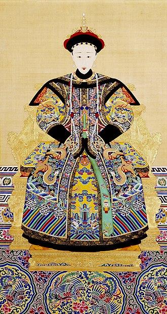 Empress Xiaoquancheng - Image: 《孝全成皇后朝服像》