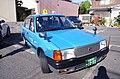 鳥取市内で特徴的な水色のセダンタイプ車両.jpg