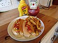 -2020-06-19 Hot dog with french fries, Trimingham, Norfolk (1).JPG