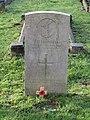 -2020-12-28 CWGC gravestone, Petty Officer F. H. Blundell, Royal Navy, HMS Vortigern, Cromer town cemetery.JPG