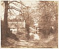 -View of a House in the Woods, with a Waterlogged Road- MET DP143517.jpg