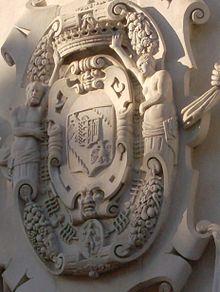 Stemma dei Bentivoglio nel Palazzo Bentivoglio di Ferrara