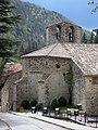 079 Santa Maria de Camprodon, absis i campanar.JPG