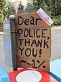 1% sign outside City Hall, Portland, OR 2012.JPG