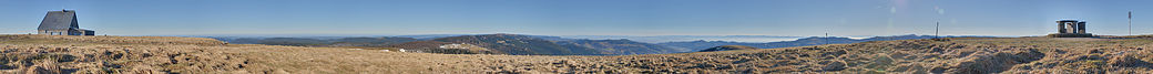 360° Panorama seen from the summit of the Hohneck mountain.