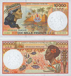 10 000 франков КФП