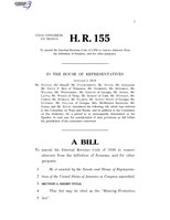 116th United States Congress H. R. 0000155 (1st session) - Hearing Protection Act.pdf
