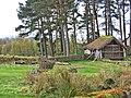 134 Highland Folk Museum (Newtonmore), Baile Gean, segle XVIII, cobert.jpg