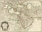 1701 Guillaume Delisle map of the Ottoman and Persian Empires