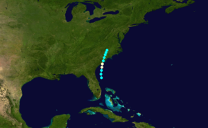 1867 Atlantic hurricane season - Image: 1867 Atlantic hurricane 1 track