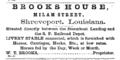 1870 Brooks advert Milam Street in Shreveport Louisiana.png