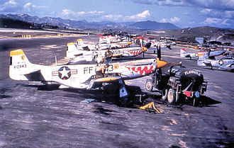Jinhae Airport - 18th Fighter-Bomber Wing F-51s at Chinhae in 1951