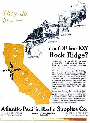 KZY - Image: 1922 KZY advertisement