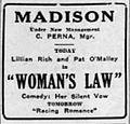 1927 - Madison Theater Ad - 15 Nov MC - Allentown PA.jpg