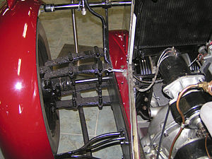 Leaf spring - Leaf springs front independent suspension, front-wheel-drive Alvis 1928