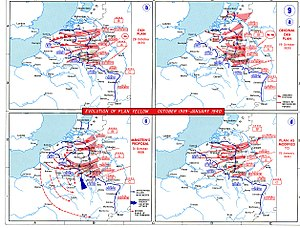 Manstein Plan - Image: 1939 1940 battle of france plan evolution