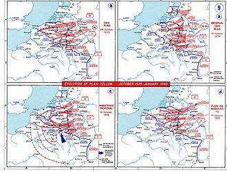 Manstein Plan - Image: 1939 1940 battle of france plan evolution