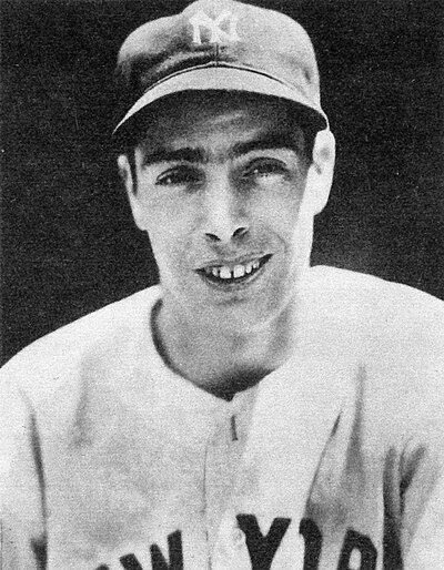 Joe DiMaggio, American baseball player, member of the National Baseball Hall of Fame