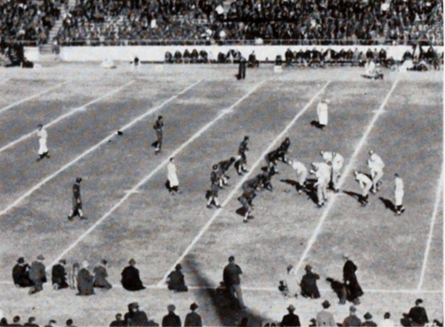 Clemson and Boston College line up in the 1940 Cotton Bowl 1940 Cotton Bowl, Clemson vs. Boston College (Taps 1940).png