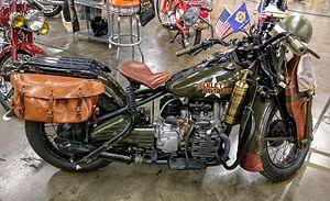 Harley-Davidson XA - 1942 Harley-Davidson XA on display at the California Automobile Museum