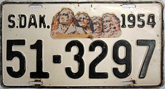 1954 South Dakota license plate.jpg
