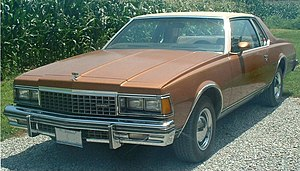 Downsize (automobile) - 1978 Chevrolet Caprice