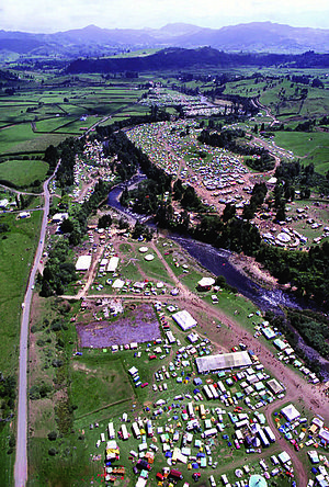 Waikino Music Festival - 1981 Nambassa Festival at Waitawheta Valley near Waikino, the same location where the Waikino Festival was held.