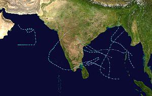 1987 Sommario della stagione dei cicloni nell'Oceano Indiano settentrionale.jpg