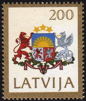 Postage stamps and postal history of Latvia - Stamp of Latvia, 1991