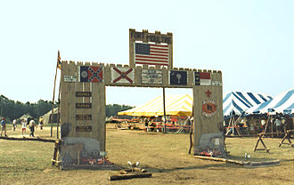1993 National Scout Jamboree - Southern region subcamp 17 gateway, portraying Fort Moultrie, South Carolina