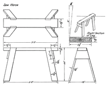 Strange Sawhorse Wikipedia Machost Co Dining Chair Design Ideas Machostcouk