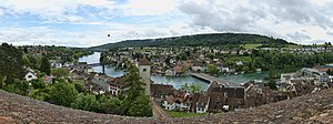 Munot - Panorama of Schaffhausen from the Munot