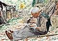 2000 - 'Voltaire Jourdan battant sa faux - Marie-Caire Lefébure.JPG