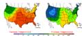 2006-05-28 Color Max-min Temperature Map NOAA.png