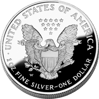 John Mercanti - Image: 2006 AE Silver Proof Rev