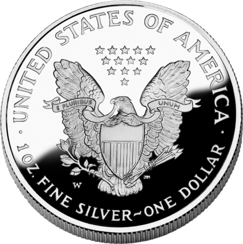 reverse side of the 2006 American Silver Eagle proof coin