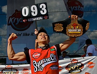 Takeru Kobayashi - Kobayashi at the Krystal Square Off in 2009