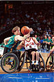 201000 - Wheelchair basketball Sandy Blythe action - 3b - 2000 Sydney match photo.jpg