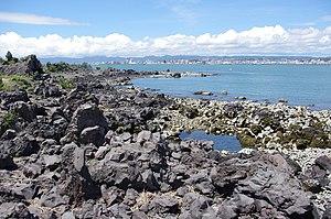 English: Lava rocks along Nagisa Lava Trail on...