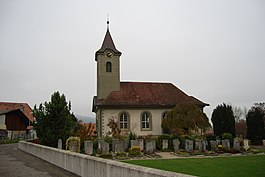 Limpach village Swiss Reformed church