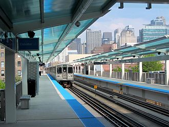 Morgan station - Image: 20120520 28 CTA Green Line L @ Morgan