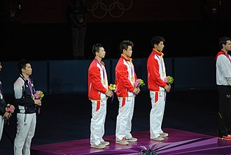 Table tennis at the 2012 Summer Olympics – Men's team - Image: 2012 Summer Olympics Men's Team Table Tennis Final 5