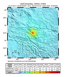 2013 dingxi earthquakes wikipedia shake map of the earthquake by united states geological survey gumiabroncs Choice Image